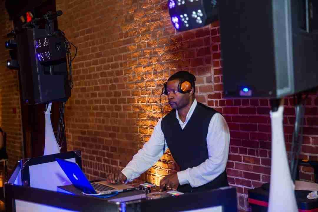 Wedding DJ_DJ Creativity spins for Seymour Wedding Reception at Charles H Morris Center Savannah GA